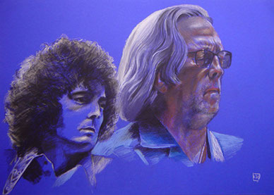 Eric Clapton,1967/2011, Pastellkreide,50x70 cm