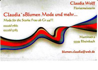 Claudia Wolff Blumen Mode Rheinbach