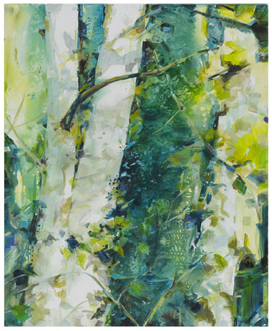 Titel: Birke 1 • Format: 84 cm x 100 cm  • Technik: Acryl auf Leinwand