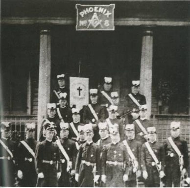 Members of Palestine Commandery No. 20, which met at Phoenix Lodge