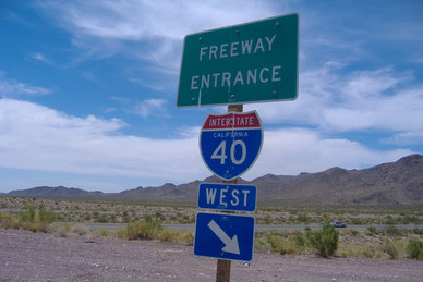 Bild: Freeway Entrance Interstate 40 West California