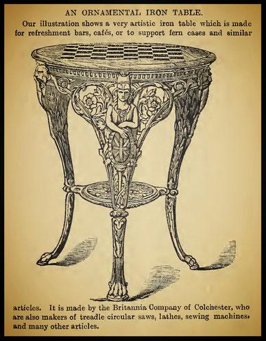 An Ornamental Iron Table - October 1882