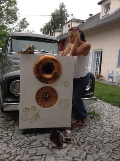 Horn eingebaut im Lautsprechergehäuse