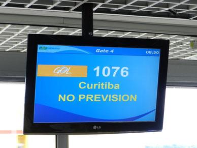 Wann unser Flug nach Curitiba geht, ist unvorhersehbar