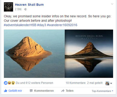 Post von Heaven Shall Burn