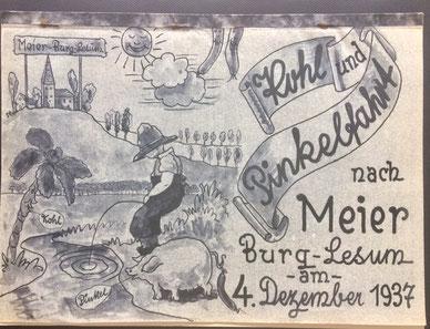 """Kohlfahrt vom 4. Dez. 1937, Abt. Getriebebau Akt.-Ges. """"Weser"""""""