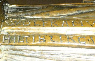 Die Stifternamen auf dem Gürtelband (Quelle: www.erfurt-lese.de)