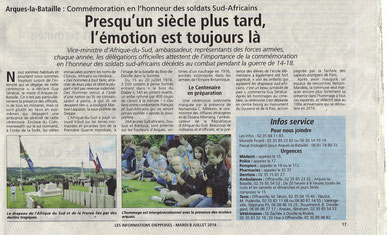 Informations dieppoises 08/07/2014