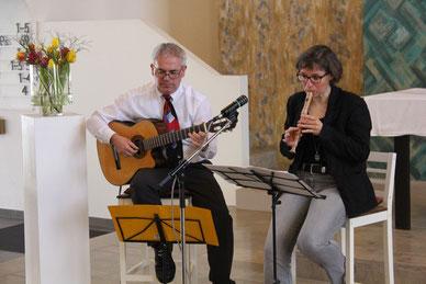 """Gottesdienst in der Pauluskirche als """"Duo Gitarre und Flöte"""""""
