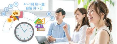7月入学授業料は38万円~。圧倒的な授業時間の多さ。