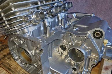 Aquapolish - microbillage bloc moteur Kawasaki 400
