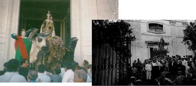 I portatori della Madonna del Carmine ieri e oggi