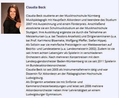 Claudia Beck, die Solistin