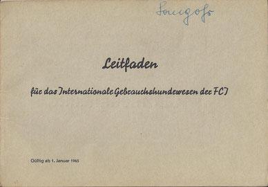 Leitfaden des FCI von 1965
