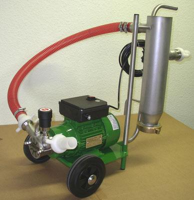 Impellerpumpe mit Steinabscheider 5000 l/h, der ideale Schlammsauger zur Teichreinigung