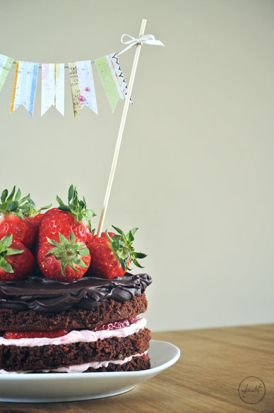 Erdbeer Schokoladen Torte