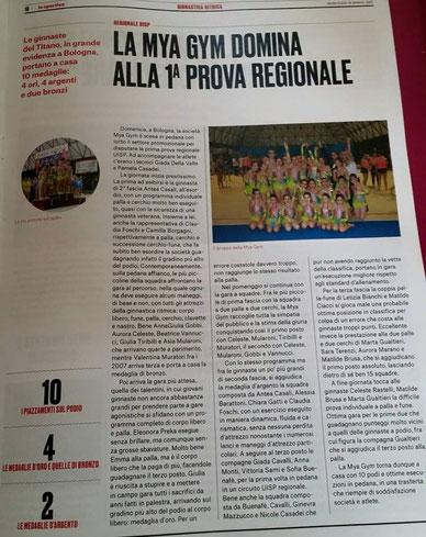 """articolo de """"Lo sportivo"""" del 18/03/2015"""