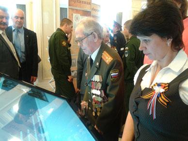 На встрече с ветеранами ВОв в Доме Правительства Новосибирск, 2015 год