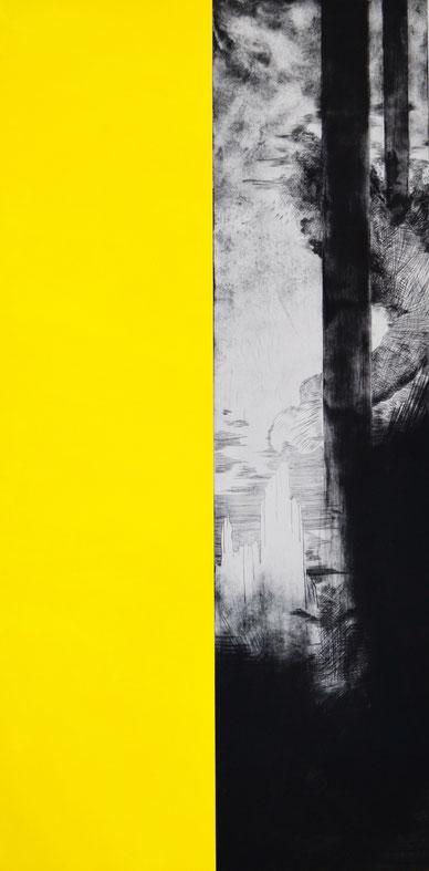 Verwirken • 2019 • engraving print on paper • 200 x 100 cm