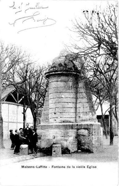 Maisons-Laffitte, la fontaine de la vieille église
