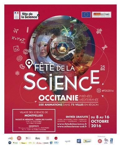 Fete de la science 2017 en occitanie, les évènements sur Montpellier
