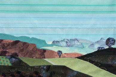 Landschaftsgemälde aus Stoff