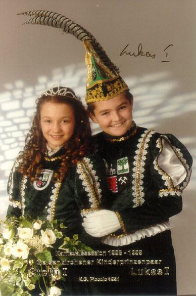 1998 / 1999 Kinderprinzenpaar Lucas I. (Lukic) & Steffi I. (Moye)