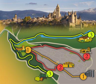 Tres rutas por la ciudad de Segovia