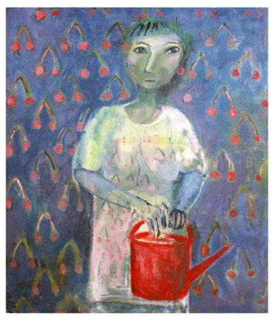 Rosa Baum, Kirschensommer, 2015, Acrylmalerei