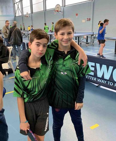 Une nouvelle équipe minime : Lucas et François rentrent en lice