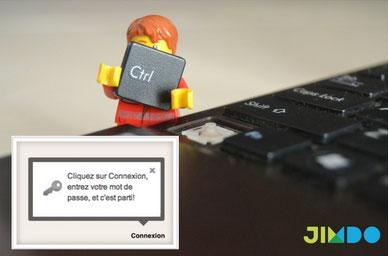 connexion au site Jimdo