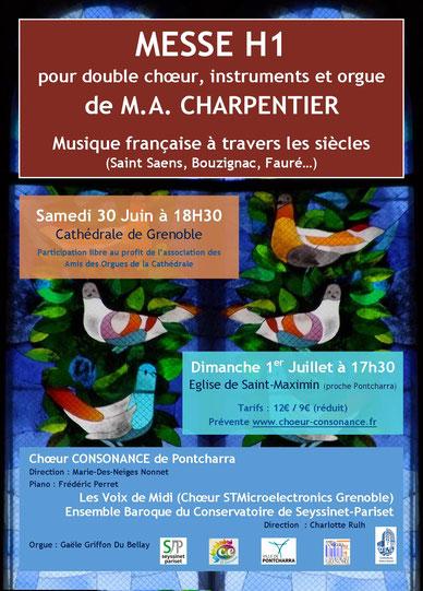 Consonance en concert à l'église de Saint-Maximin - dimanche 1er juillet 2018