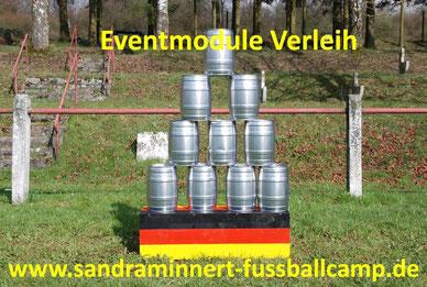 Dosenwerfen kaufen Dosenschießen mieten Eventmodule Verleih Frankfurt kaufen Hüpfburg Tischkicker Menschenkicker Fussball Attraktionen