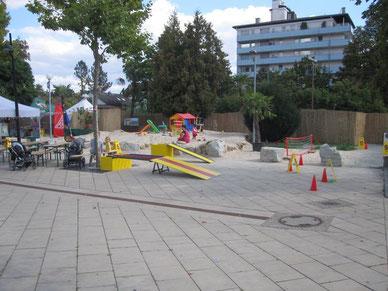 Kinderfest Minigolf Idee Fussballgolf Module mieten Kinderanimation Kindergeburtstag Frankfurt Oberursel Steinbach Rosbach Karben Bad Vilbel Fussballgolf spielen Fussballgolf Anlagen