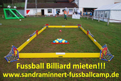 Fussball Billiard Verleih Fussballmodule mieten Attraktionen Fussball EM 2016 Public Viewing Idee Spielgeräte Eventmodule mieten Hüpfburg