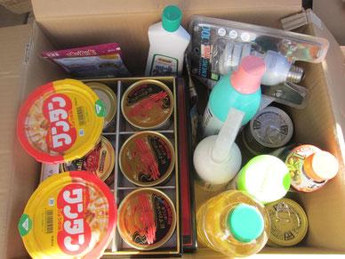 寄付|社協|包括|缶詰|食料品|日用雑貨
