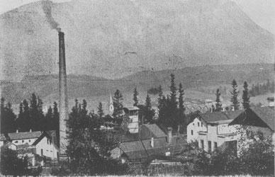 Blick auf die Anlagen des Tiefbauschachtes (ehem. Werksgelände d. Fa. Bühl)