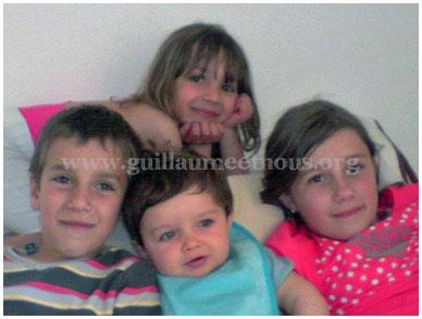 De haut en bas, de gauche à droite : Elisa, Valentin, Guitou, Emma