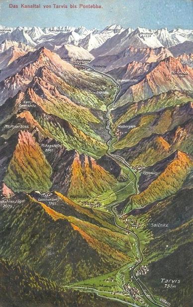 Kanaltal, Österreich, Tarvis, Pontebba, Valbruna, Malborgeth, Luschariberg