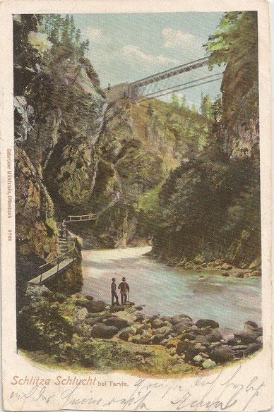 Schlitzaschlucht Tarvis, Alpe Adria Trail