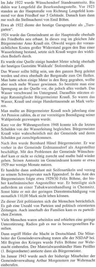Bild: Wünschendorf Erzgebirge Wittig Kurt