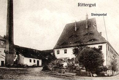Bild: Rittergut Wünschendorf Steinportal Erzgebirge