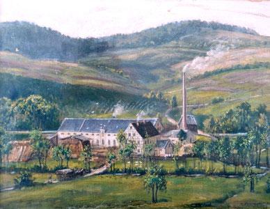 Bild: Schrötermühle Wünschendorf Gemälde 1920