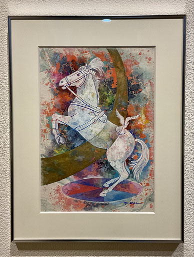 「ハイライト」油彩画
