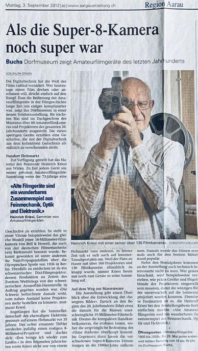 Aargauer Zeitung - 3.9.2012