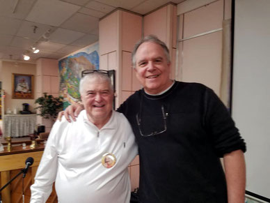 Allan with Buz Connor at the Circle of Friends, Myrtle Beach, SC.