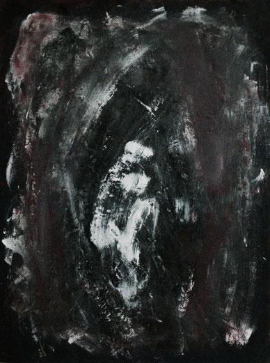 Kokoon, Acryl auf Karton, 70x40, 2011