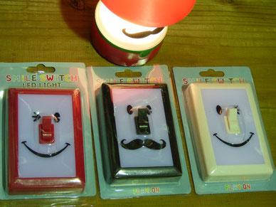 スマイルスイッチ ¥900+Tax LEDです。