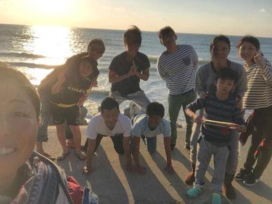 ただいま、江口浜~~ そして、また誰か写って無いし(笑)