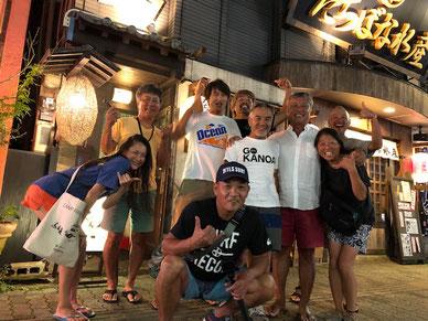 一日目の夜は撮影CREWチーム&福岡の二人と!よか晩でした~